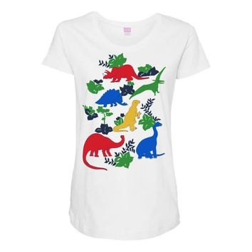 dinosaurs Maternity Scoop Neck T-shirt
