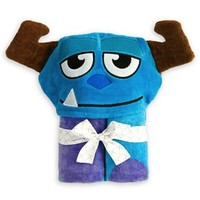 Disney Monsters, Inc. Sulley Mike Wazowski Hooded Towel for Baby Toddlers Girls Boys