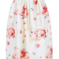 Reda Rose Printed Satin Skirt