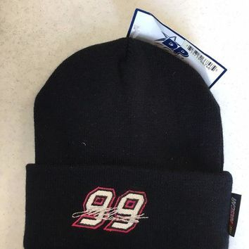 DCCKIHN BRAND NEW MEN'S JEFF BURTON #99 BLACK NASCAR KNIT HAT SHIPPING
