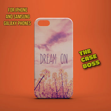 PINK DREAM ON Design Custom Phone Case for iPhone 6 6 Plus iPhone 5 5s 5c iphone 4 4s Samsung Galaxy S3 S4 S5 Note3 Note4 Fast!