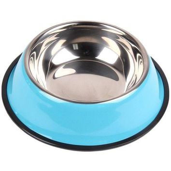 Stainless Steel Colored Dog Bowl