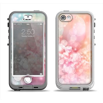 The Unfocused Pink Abstract Lights Apple iPhone 5-5s LifeProof Nuud Case Skin Set