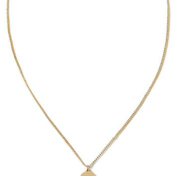 Banana Republic Womens Oval Script Necklace Size One Size - Gold