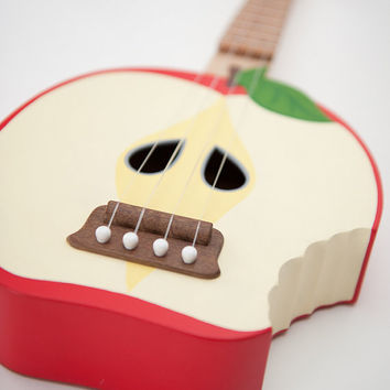 Bitten Apple ukulele ( applelele )  (SOLID WOOD)