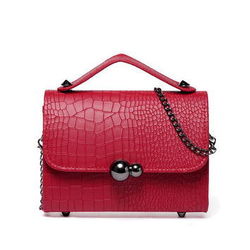 2016 new high quality women handbag crocodile pattern Ms. Messenger Bag PU leather fashion lady clutch zs323