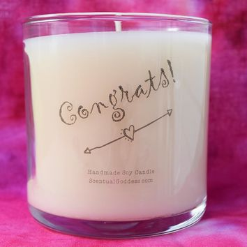 Congrats! Gift Candle - Congratulations Gift, Celebration, Achievement, You Did It, Way to Go