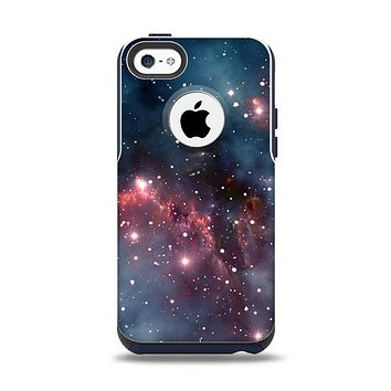 The Bright Pink Nebula Space Apple iPhone 5c Otterbox Commuter Case Skin Set