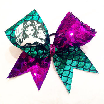 Coffee Inspired Little Mermaid Cheer Bow