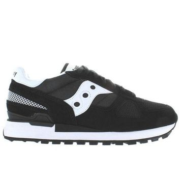 ESBONIG Saucony Shadow Original - Black/White Suede/Nylon Sneaker