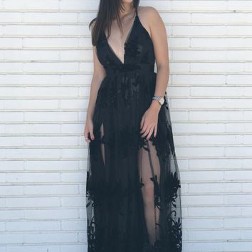 Angelina Black Tulle Dress