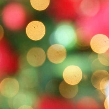 Bokeh Christmas Red Green Vinyl Backdrop - 5x6 - LCCR083 - LAST CALL