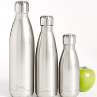 'Metallic Collection - White Gold' Stainless Steel Water Bottle