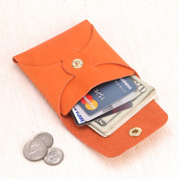 Personalized Leather Coins Wallet