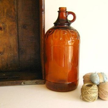 Vintage  Amber Purex Bleach Bottle by by RollingHillsVintage