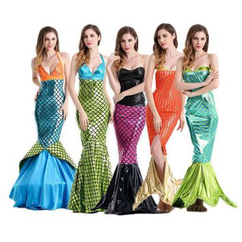 VLX2WL Costume Romantic Dress Sea Sexy Cosplay Prom Dress [8979057671]