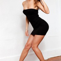 LBD / Little Black Dress / Shoulderless Dress / Sexy Tube Top Dress / BodyCon