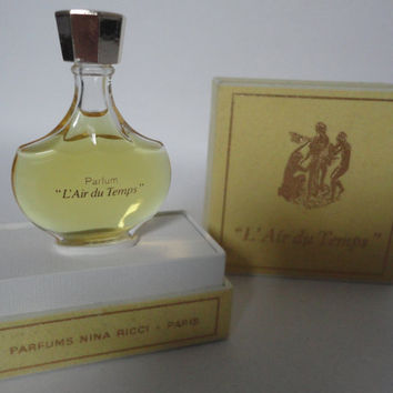 Vintage Nina Ricci Paris L'Air du Temps Pure Parfum, 7,5ml