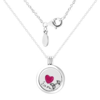 Large floating locket Necklaces and Pendants with 3 inner Parts 100% 925 Sterling Silver Jewelry For Women Free Shipping 13N027E