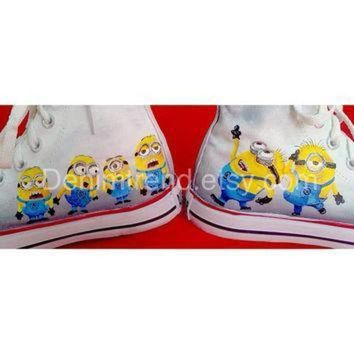 DCCK1IN minion custom shoes 2 converse by denimtrend on etsy
