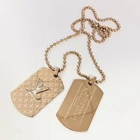 8DESS Louis Vuitton LV Men Fashion Necklace Jewelry
