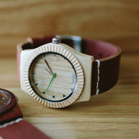 Maple Wood Watch - Real Wood Watch - Wood Unisex Watch - ARBR-MP