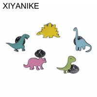 2017 New Fashion Vintage Enamel Brooch Pins Kids Dinosaurs Dragon Badge Brooch For Women Decoration Jewelry VHS9241