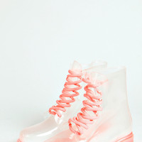 Amy Lace Up Chunky Welly Boot