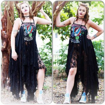 Burning Man Festival maxi dress, Grateful Dead, Dead head, True rebel clothing