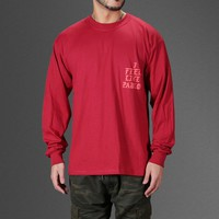 HCXX I FEEL LIKE PABLO RED AND BLUE LONG SLEEVE T-SHIRT