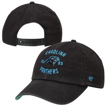 47 Brand Carolina Panthers Underhill Slouch Adjustable Hat - Black