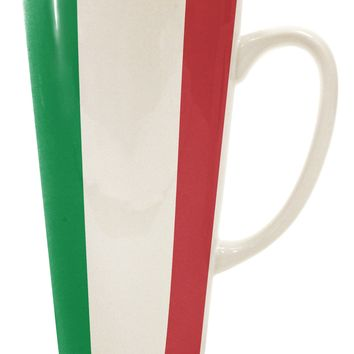 Italian Flag All Over 16 Ounce Conical Latte Coffee Mug All Over Print