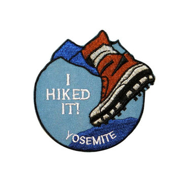 "Trail Hiking ""Yosemite"" National Park Souvenir Patch California Iron-On Applique"