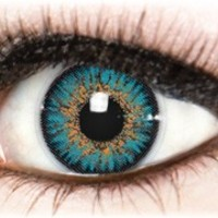 Diamond Turquoise Colored Contacts by Color My Eyes