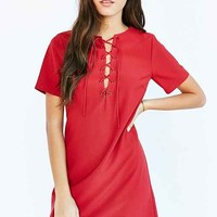 Lucca Couture Short Sleeve Lace-Up Dress