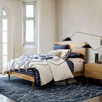Roar + Rabbit Brass Geo Inlay Bed
