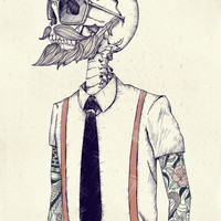 The Gentleman becomes a Hipster Art Print by Mike Koubou