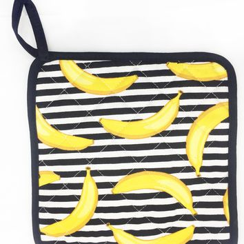 Bananas Stripes Pot Holder