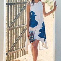 Embroidered Bluebell Dress by Ranna Gill Blue Motif