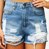 Torn To Pieces Shorts: Denim - What's New - Hope's Boutique