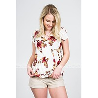 Ivory Garden Floral Top