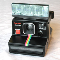 Polaroid TimeZero OneStep Land Camera & by SunsetSideVintage