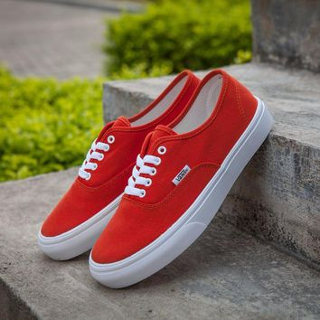 Best Online Sale Vans Authentic Red Sneakers Casual Shoes