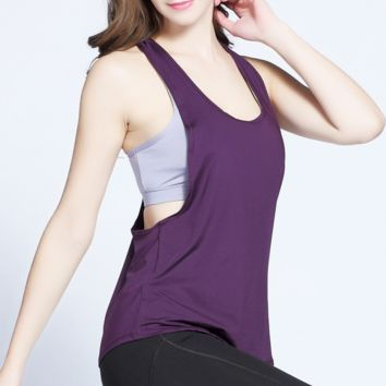 Hot selling trend sleeveless vest women's quick drying small blouse running fitness small equipment outdoor women's fitness clothing