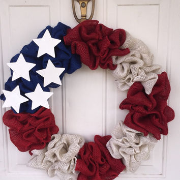 Fourth of July wreath, red white and blue wreath, Memorial Day wreath, Independence Day, usa wreath, freedom