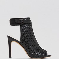 VINCE CAMUTO Open Toe Booties - Karsten High Heel
