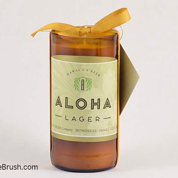 Aloha Drink Recycled Bottle Candle Shipping Included US