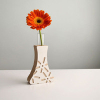 "Sjotime Industries ? Power Plants Bud Vase: ""Fuel Cell"" White"