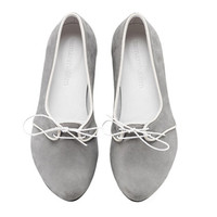 New! Alex, Gray shoes, Flats, Leather Shoes