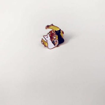 cute Sailor Moon Luna Artemis enamel pin